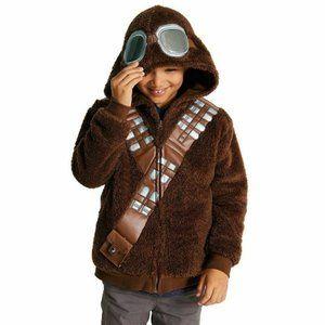 Disney Star Wars Zip Up Chewbacca Hoodie Sweater